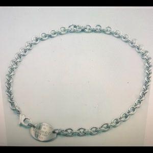 Tiffany & Co. Jewelry - Tiffany & Co. Oval tag  choker Necklace